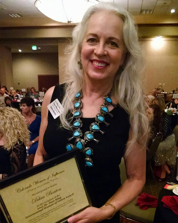Winning the 2015 Dr. Joan King International Woman of Vision Award
