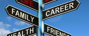 Life choice road signs