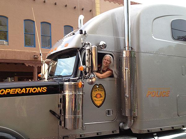 Debra getting into a little trouble in Santa Fe