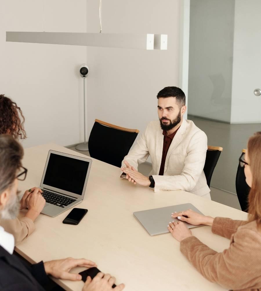 Employee In An Internal Job Interview